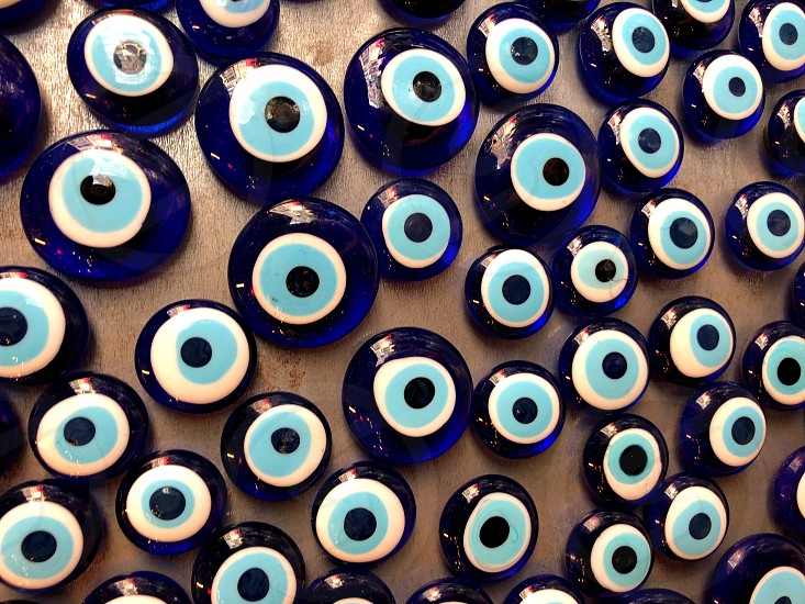 Stone from damage and the evil eye. Sale on the street  photo
