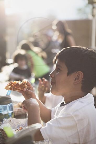 Little boy at a picnic. photo