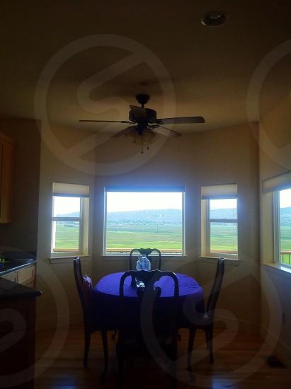 dining table near window photo