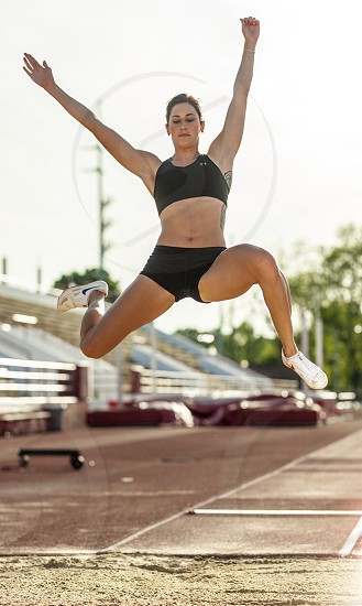 long jump track and field female photo
