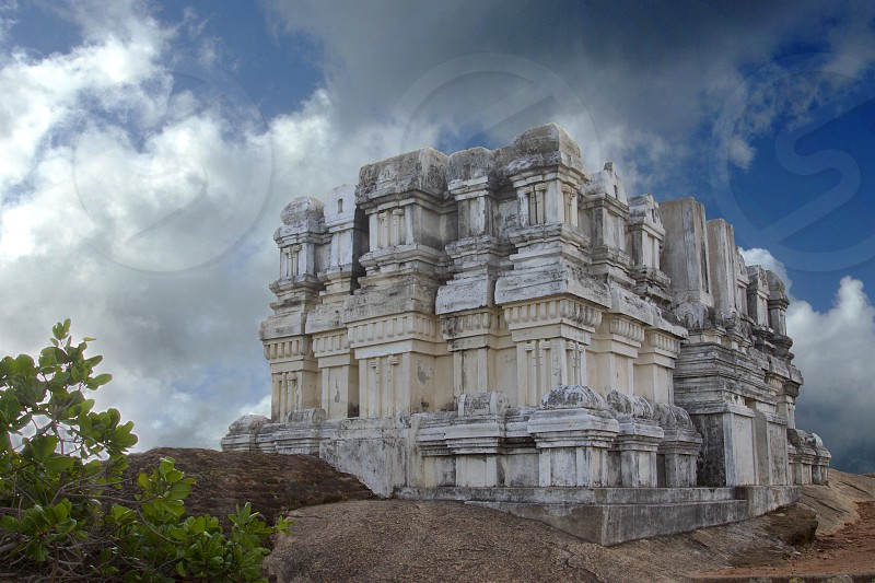 A ancient architecture on a mountain top Tamilnadu India. photo