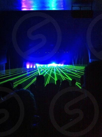 green laser lights view  photo