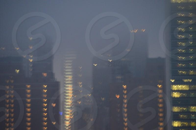 black tall buildings photo