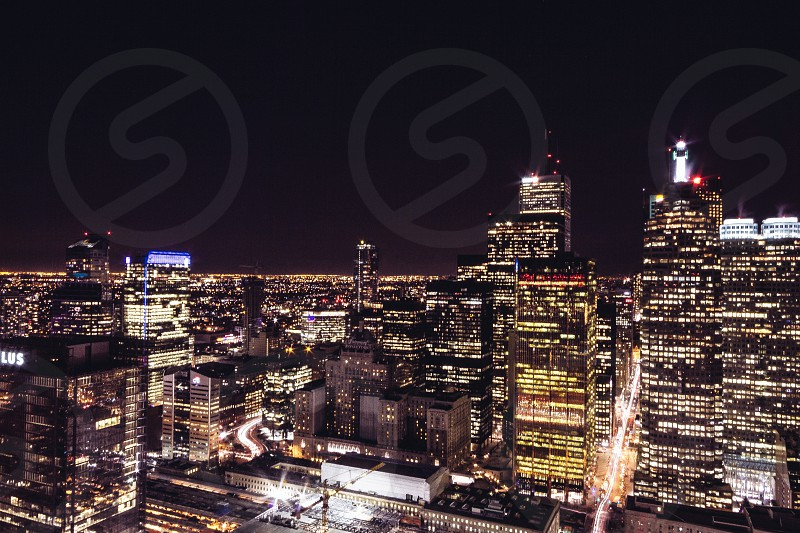 aerial view photography of city escape at night photo