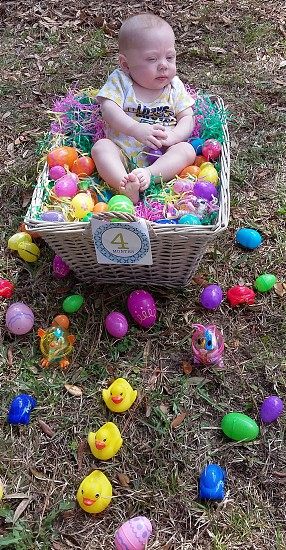 Easter Basket Baby photo