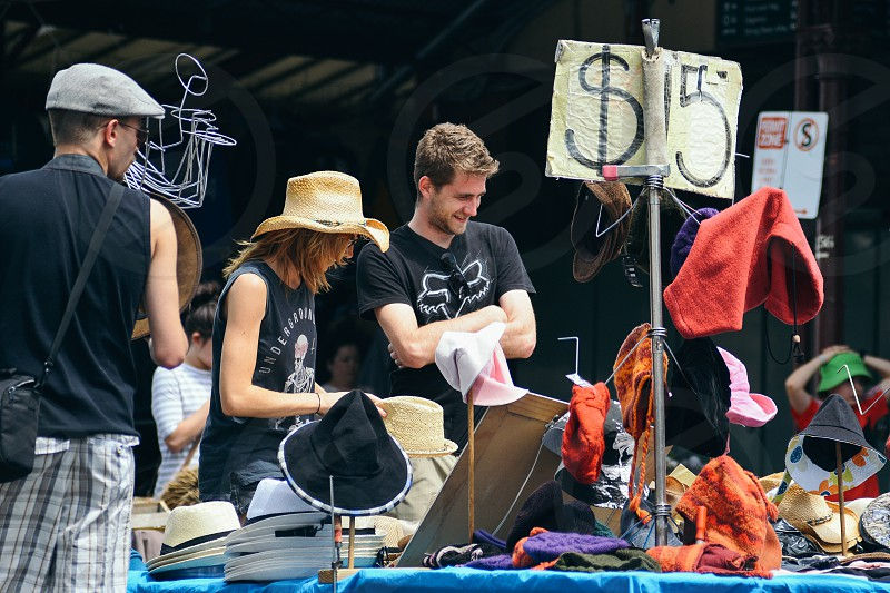 Open air market in Melbourne photo