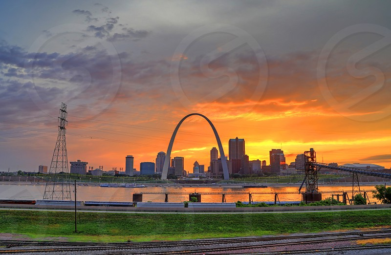 Gateway Arch and St. Louis Missouri skyline. photo