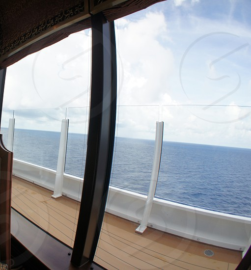Cruise ship deck and windows photo