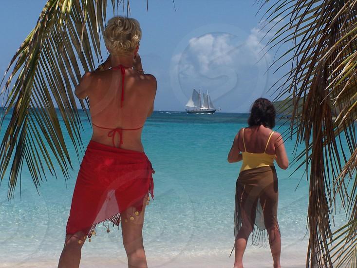 Caribbean island view photo
