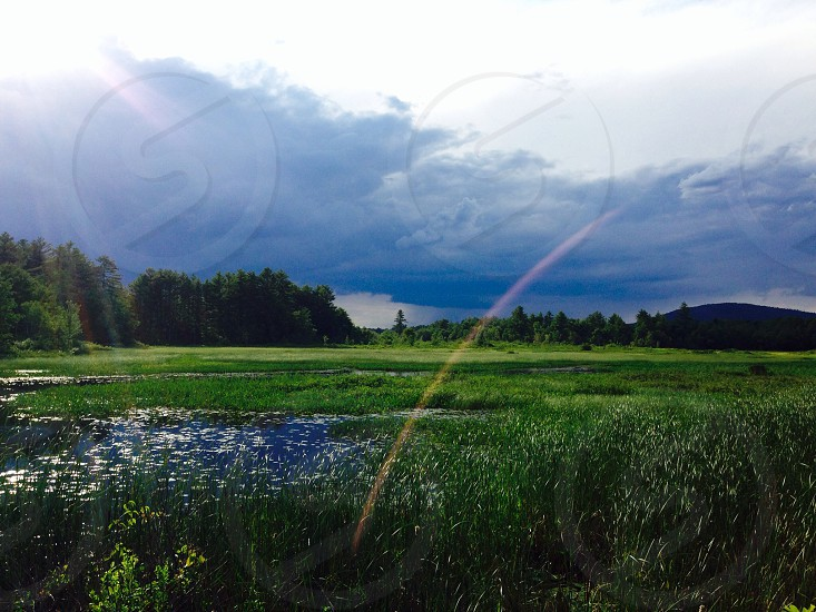 As the storm rolled in! Maine.  photo
