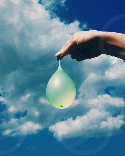 Water balloons in the summer.  photo