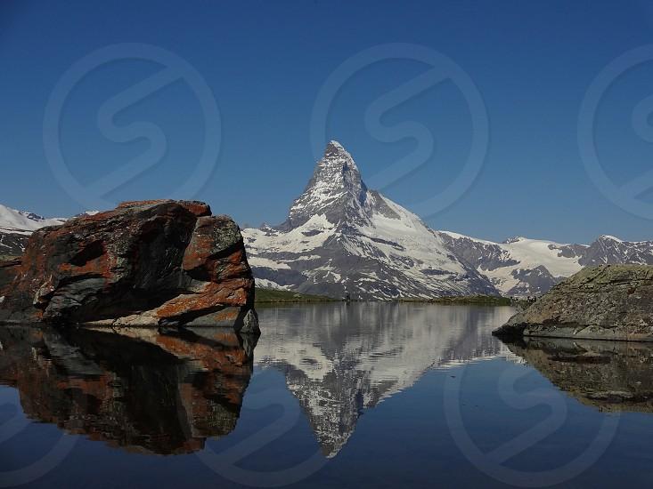Matterhorn.StelliLake.Zermatt.Matterhorn.Swizerland.ConfoederatioHelvetica.SchweizerischeEidgenossenschaft.SwissConfederation.Travel.スイス.マッターホルン.シュテリー湖.逆さマッターホルン photo