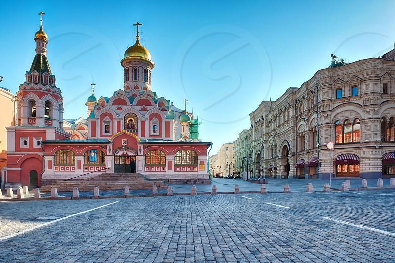 Red Square in the early morning photo