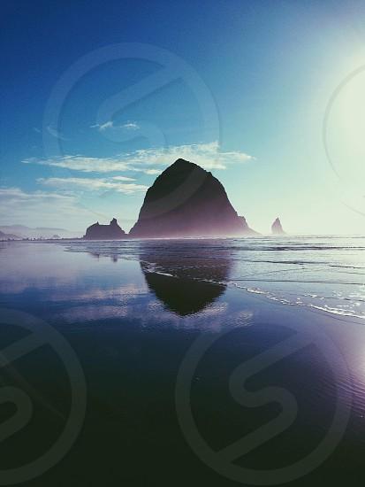 Haystack Rock Oregon coast. photo