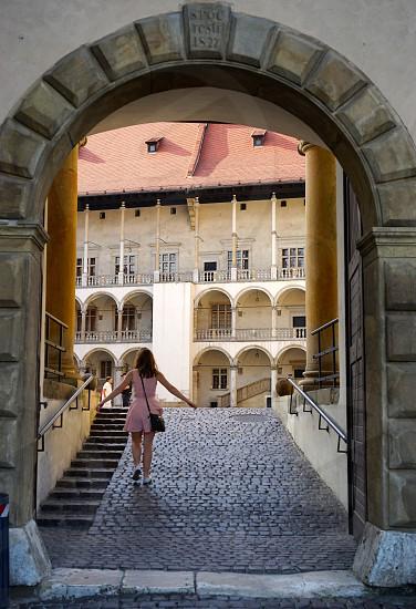 framed. Krakow. Medieval castle. photo