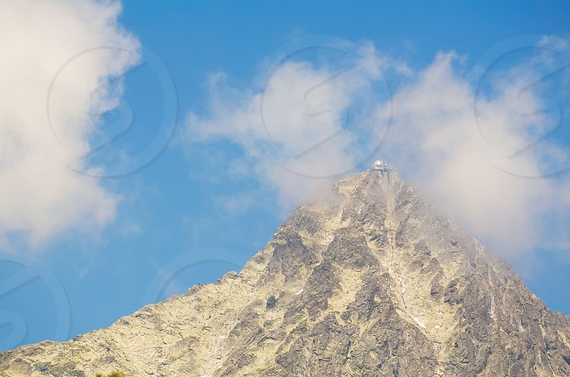 Lomnicky Peak with Observatory in High Tatras Slovakia photo