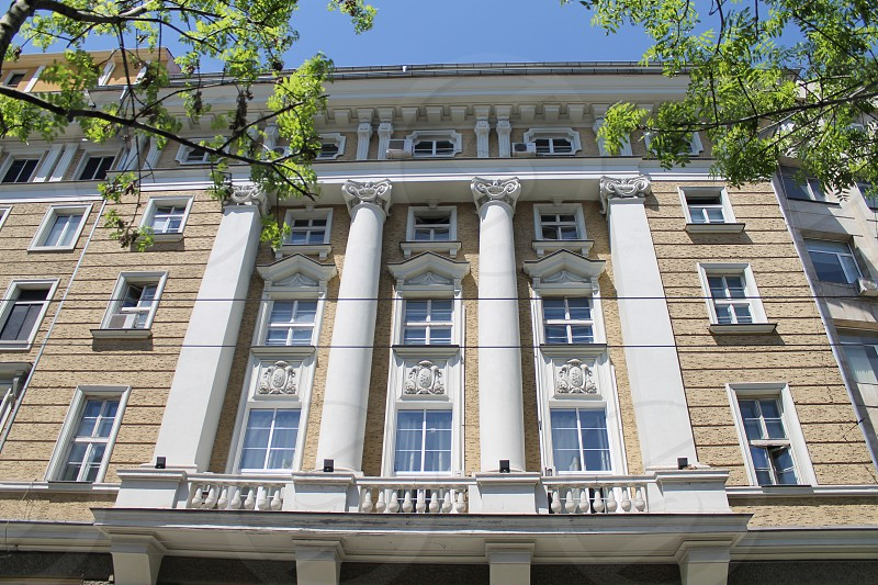 residential building in an upmarket area of Sofia.. photo