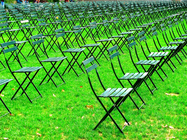 Rows of Chairs 9/11 memorial Bryant Park New York City photo