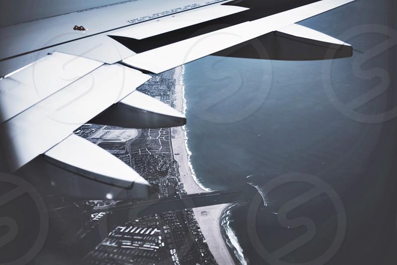 Flying over California  photo