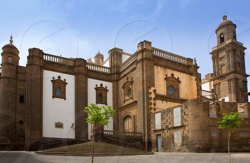 Las Palmas de Gran Canaria Santa Ana Cathedral side view Vegueta Spain  photo