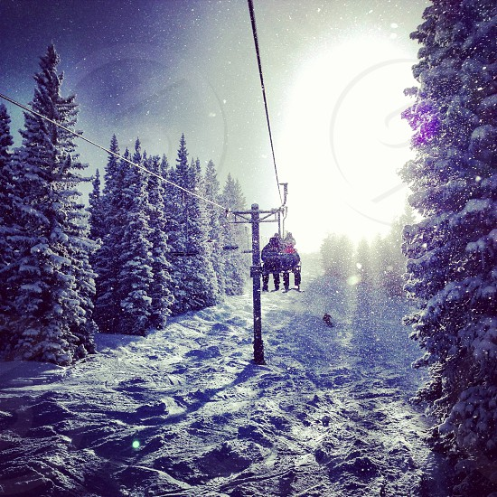 The chairlift to High-Alpine at the Snowmass Ski Area near Aspen CO. photo