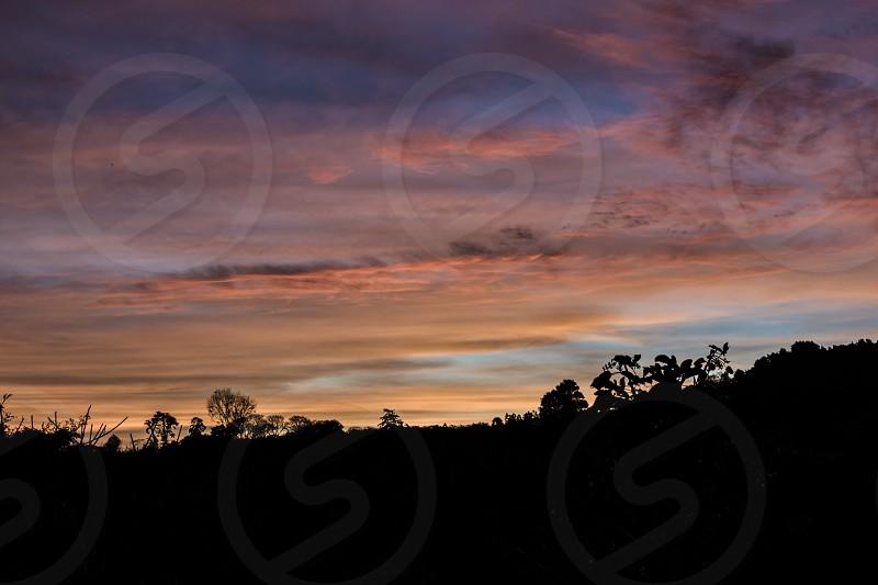 sunset landscape costa-rica photo