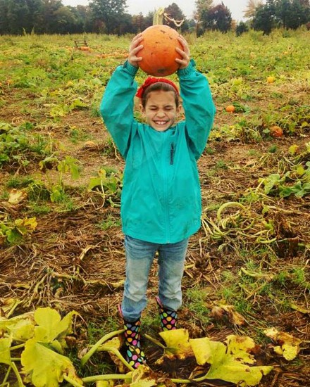 At the pumpkin patch photo