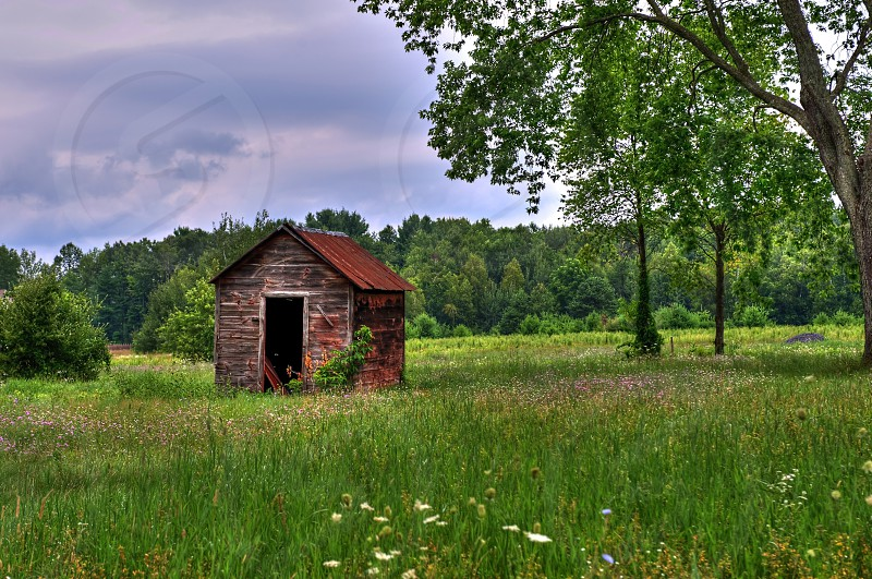 Old outhouse in upstate New York. photo
