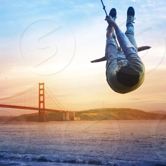Golden Gate Bridge swing photo