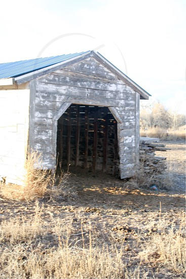 Farm barn rustic horse shed Albuquerque New Mexico  photo