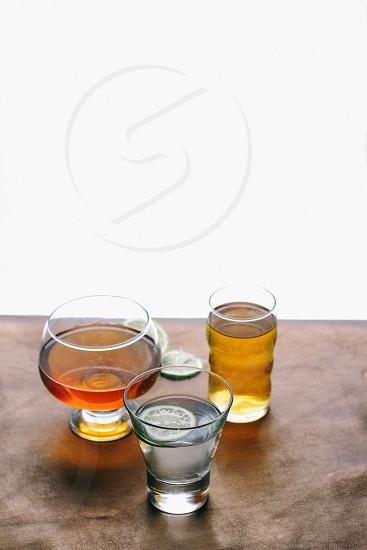 3 clear wine glass photo