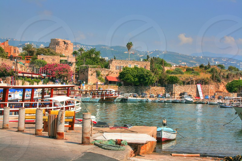 historic town of byblos in lebanon photo