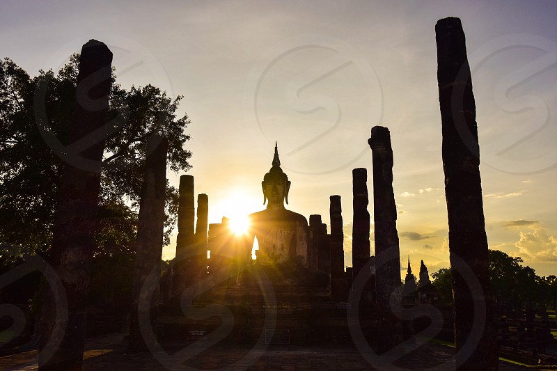 Sukhothai Historical Park. In the past Sukhothai was Thailand's capital is thriving. photo