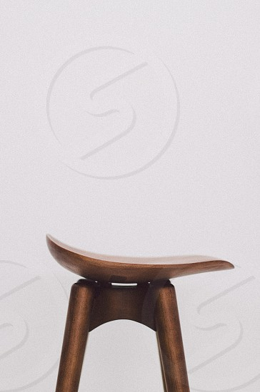 brown wooden stool photo
