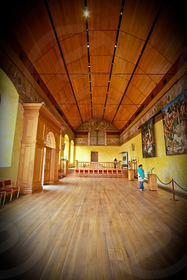 TextureQueen's Inner Hall of the Palace at Stirling Castle Scotland tapestries photo