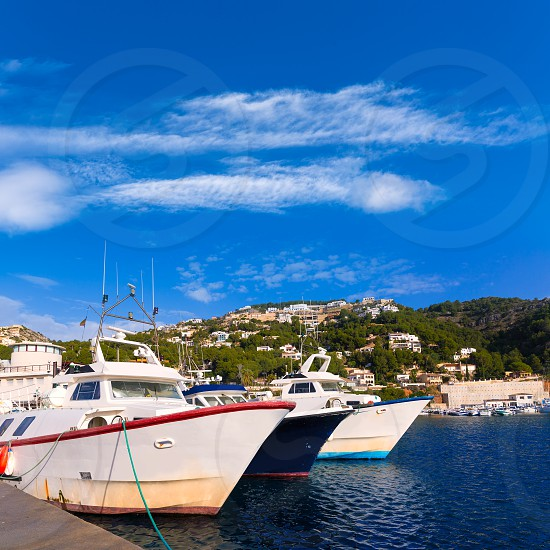 Javea Xabia fisherboats in port at Mediterranean Alicante of Spain photo