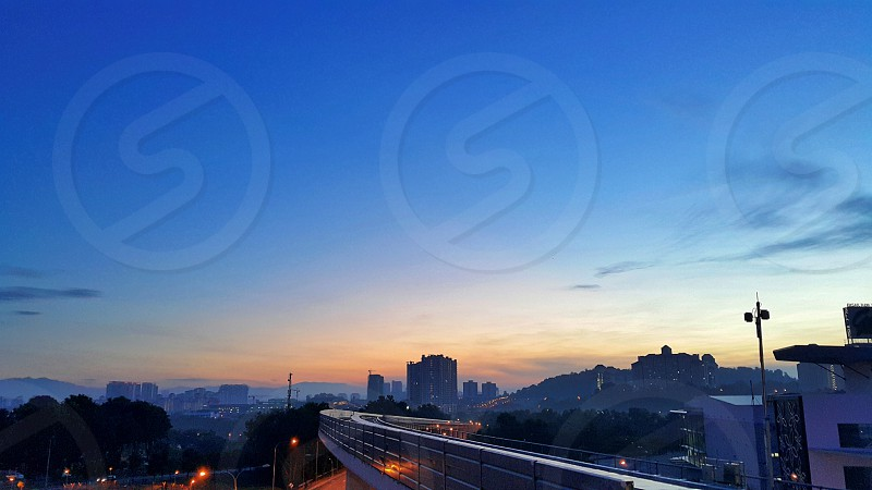 landscape urbanscape cityscapes city urban railway dawn photo