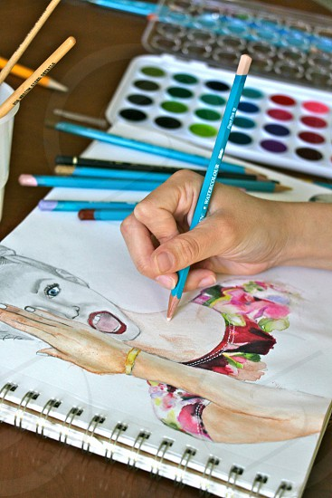 Young artist at work photo