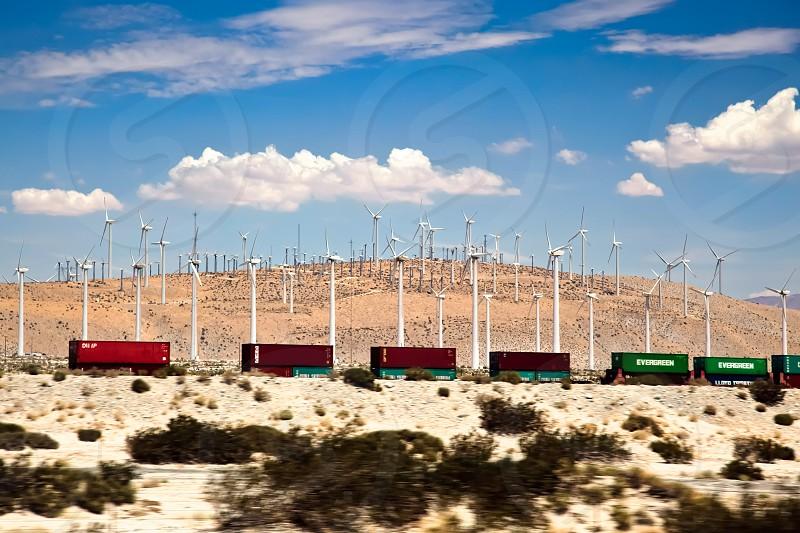 Wind Farm and Railway Line photo
