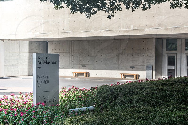 Exterior building shot of the Kimball Art Museum in Fort Worth Texas photo