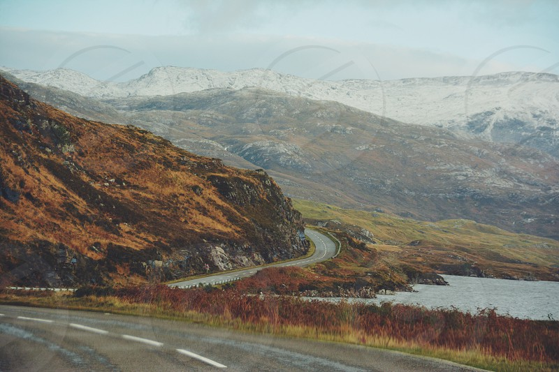 Road road trip travel mountains wanderlust Scotland highlands  photo