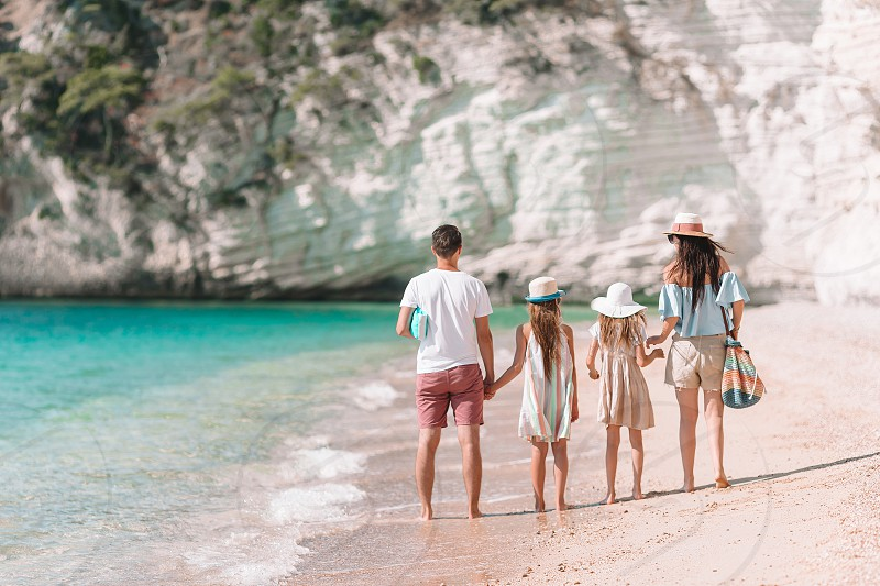 Young family on vacation have a lot of fun. Summer Lifestyle photo