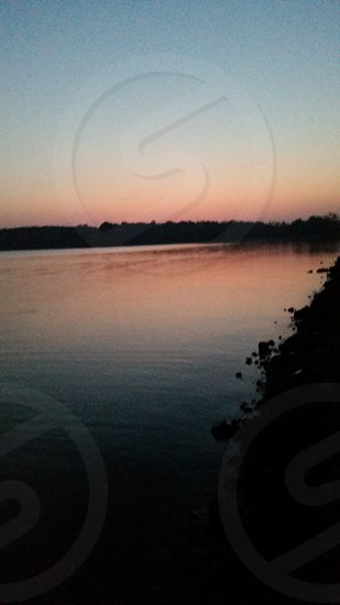 Sun Setting on the Lake photo
