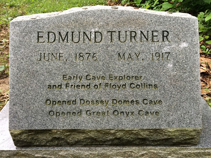 Headstone; cave explorer;history; mammoth cave  photo
