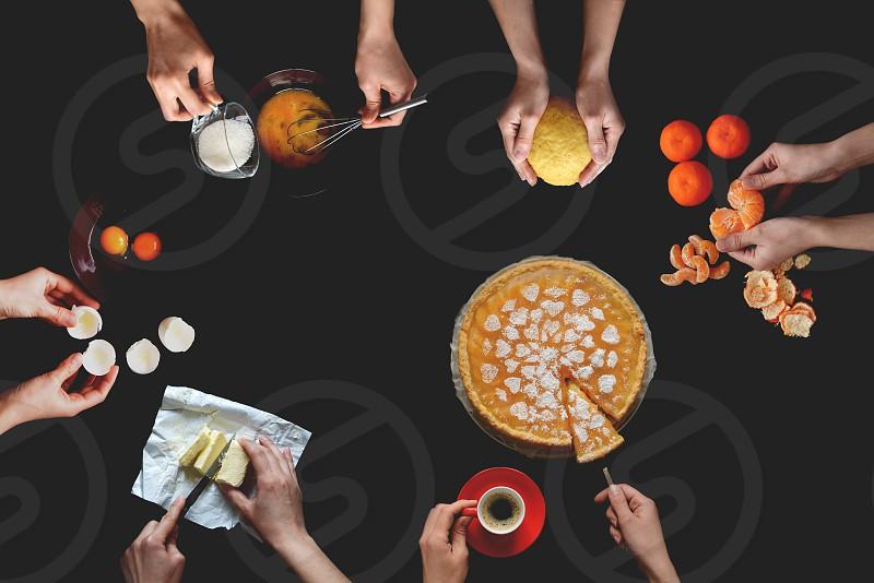 Cooking cake photo