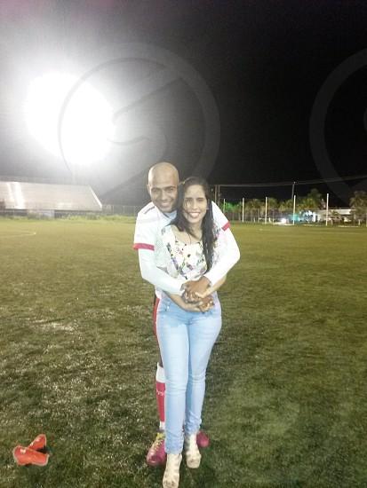 fútbol con amor en la cancha photo