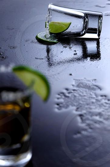 Shot glasses of tequila photo