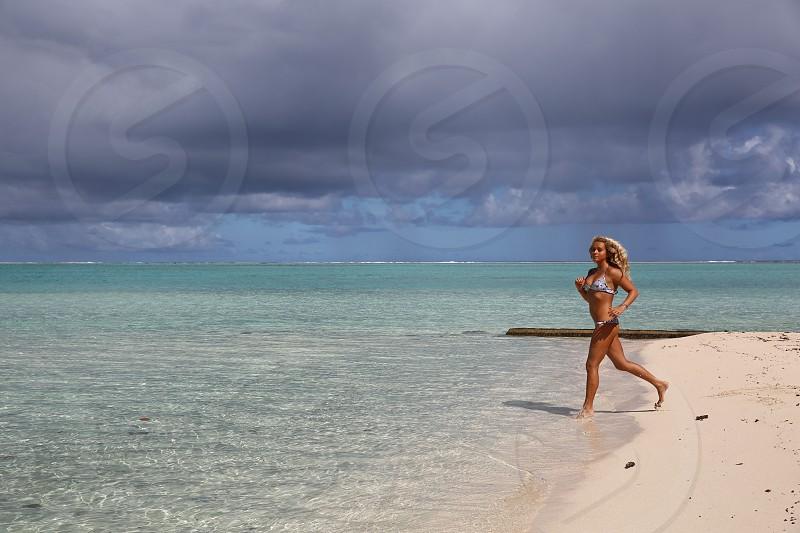 Beach Model fitness bikini beautyParadiseLuxury Resort photo