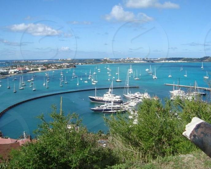 Marina boats tropical photo