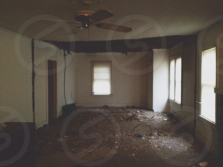 brown ceiling fan  photo